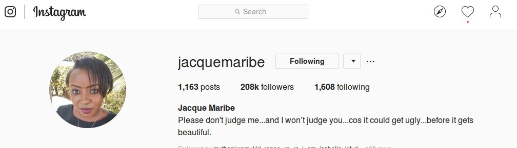 Jacque Maribe new bio - Kunaendaje? Jacque Maribe deletes photo of engagement to Jowie  from her Instagram