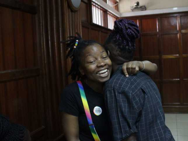 LES2 644x483 - [PHOTOS] Kenya gay supporters fill up court to fight for sex rights