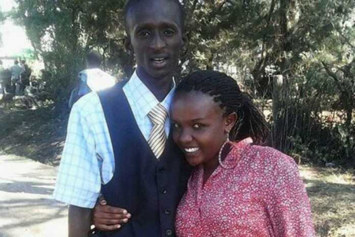 Njugush and wife 696x464 - Pesa ni sabuni! Photo of Njugush and wife when they were still ashy