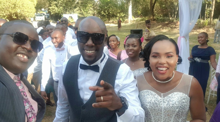 Okari and his wife Naomi Joy - Vindu vichenjanga! Dennis Okari shares TBT