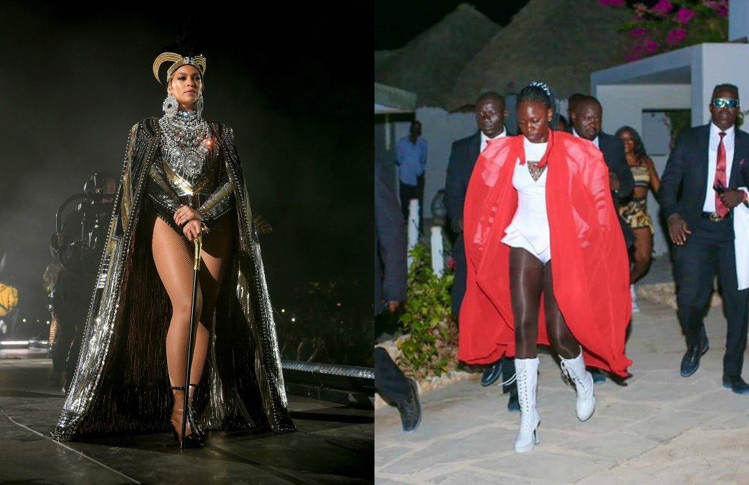 Queen Bee Akothee - Call the police! Similarities between Beyonce and Akothee risquée performances [PHOTOS]