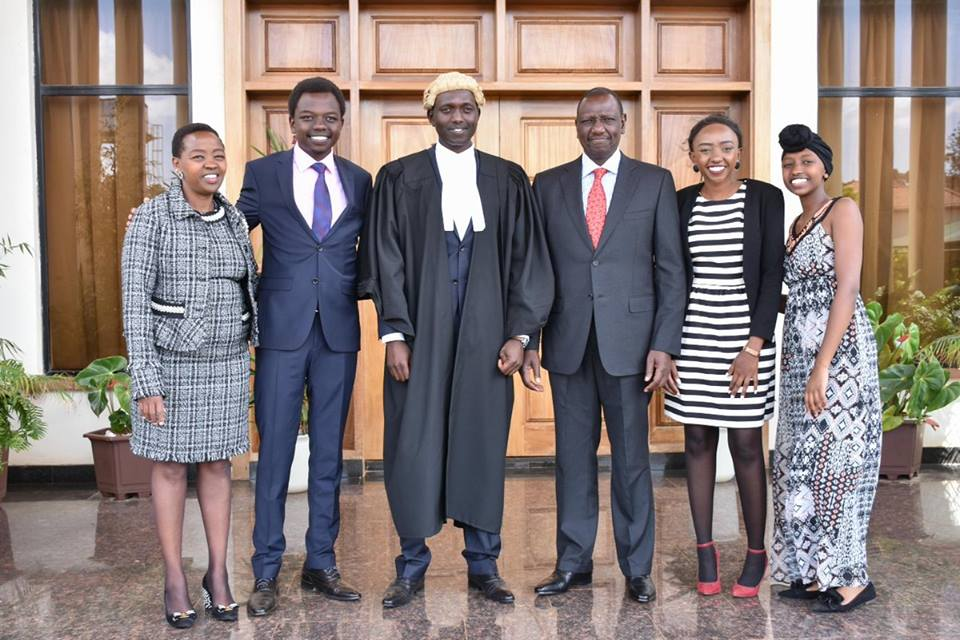 Rutos family - 'May you stand true to your calling as a defender,' DP Ruto's deep message to son