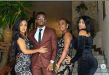 Tanasha Donna with Diamond Platnumz' family