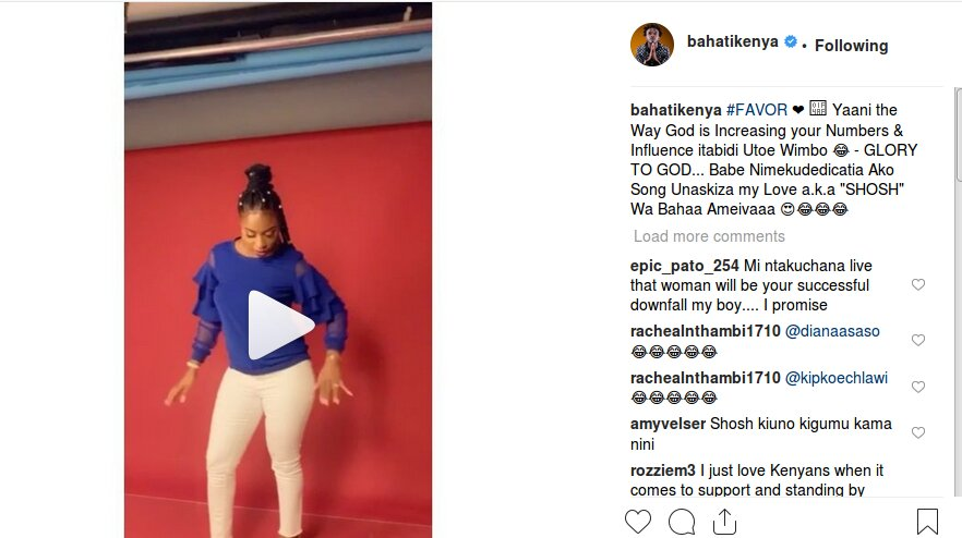 "Screenshot from 2019 02 10 09 16 42 - '""Shosh"" wa Bahaa ameivaaa,' Bahati joins bandwagon in calling Diana old grandma"