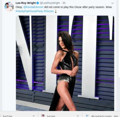 Screenshot from 2019 02 25 12 49 04 498x483 - Kendall Jenner almost exposes her honey pot in revealing Oscar dress