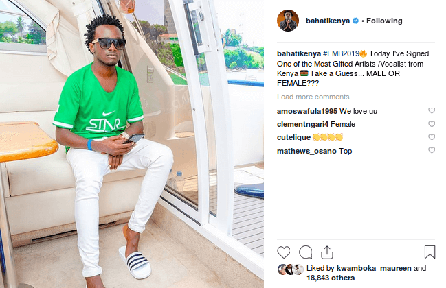 baha - Danny Gift allegedly signed under Bahati's EMB for ten years