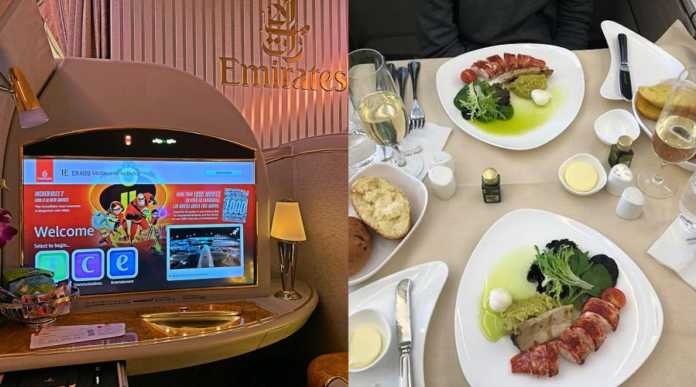 first class 696x387 - What is money! First class travelers show off lavish lifestyles