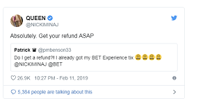 nicki 21 - Cardi B 'dragging Nicki Minaj by her wig' tweet makes rapper cancel BET gig