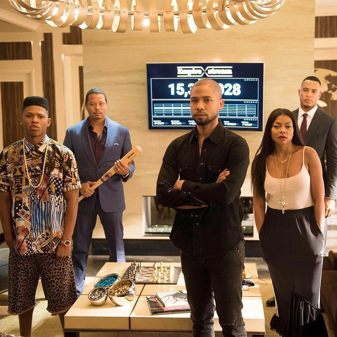 terence and his family - Empire star stands up for actor after fake assault claim