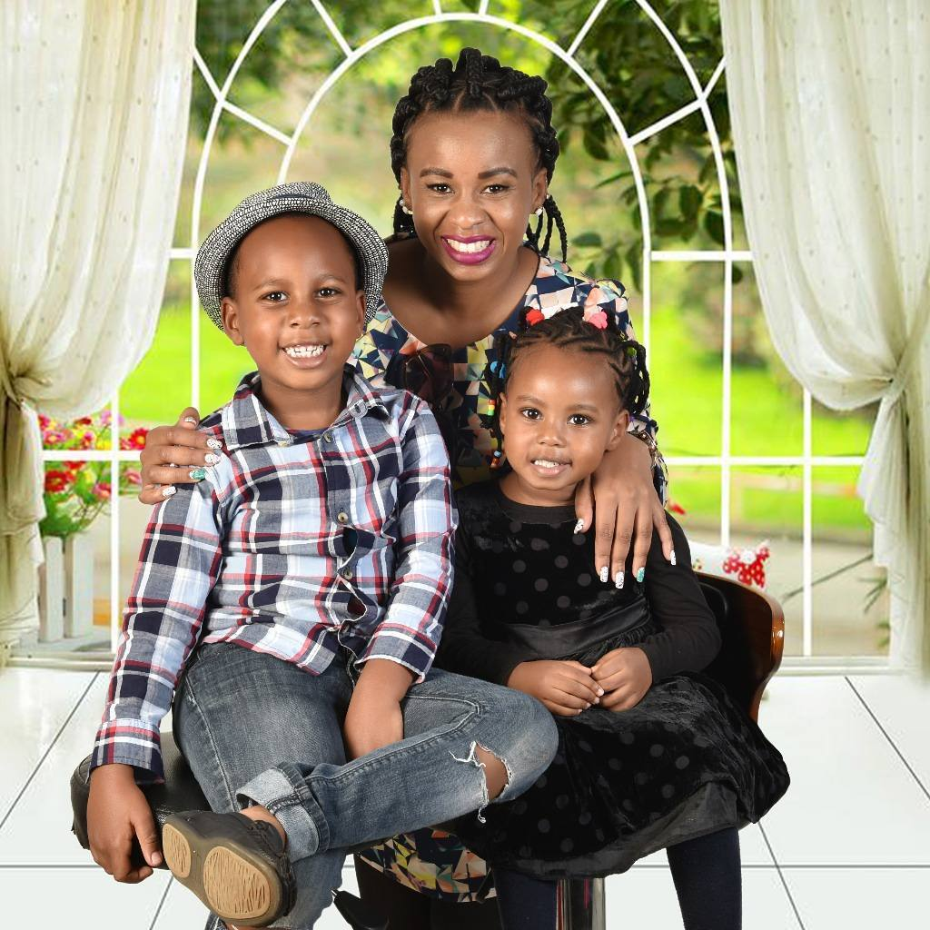 Njeri Kaberere with her children