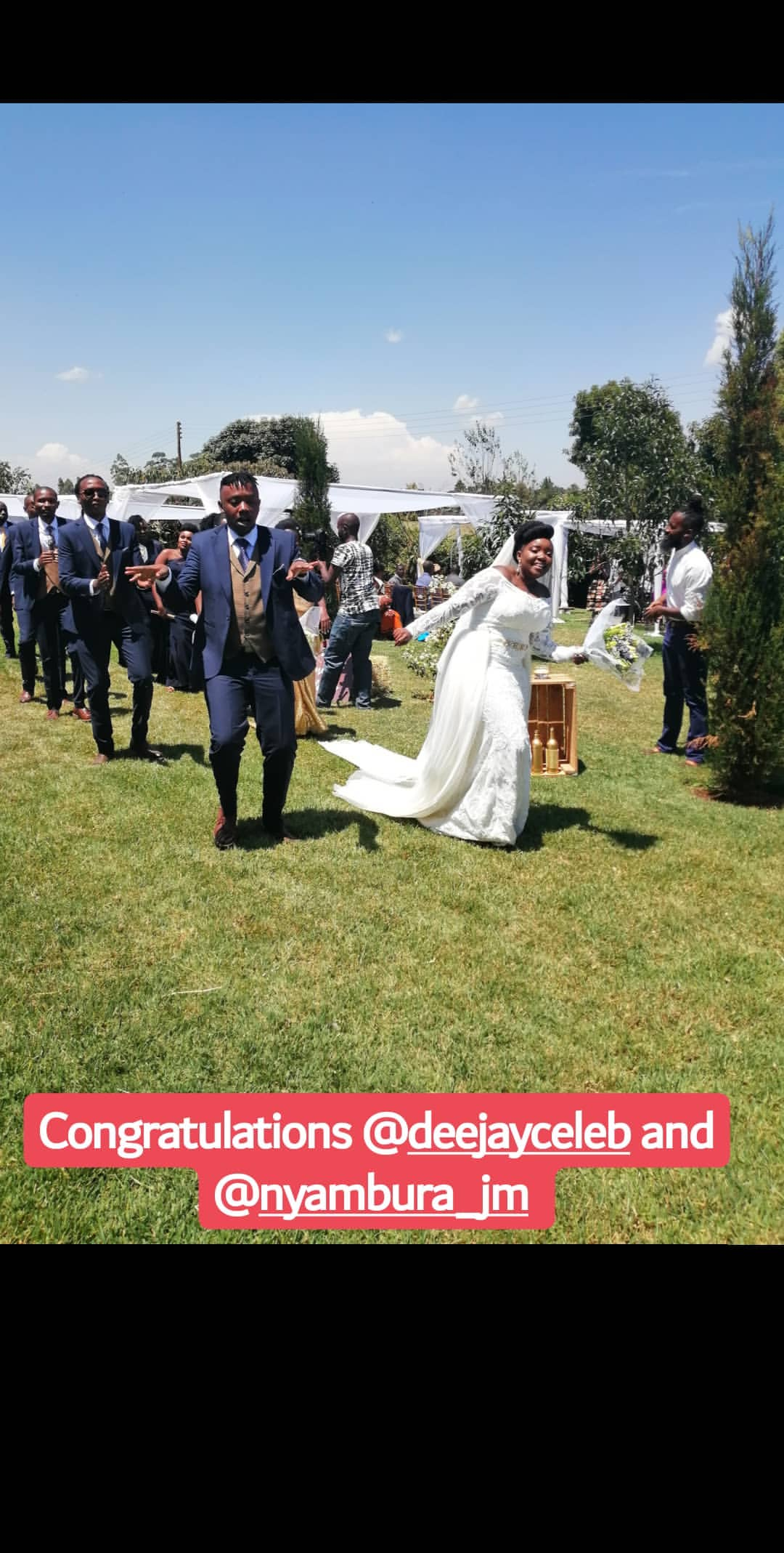 52810193 2315316522080592 1901013494126351236 n - Finally! K24's Deejay Celeb walks down the aisle (Photos)