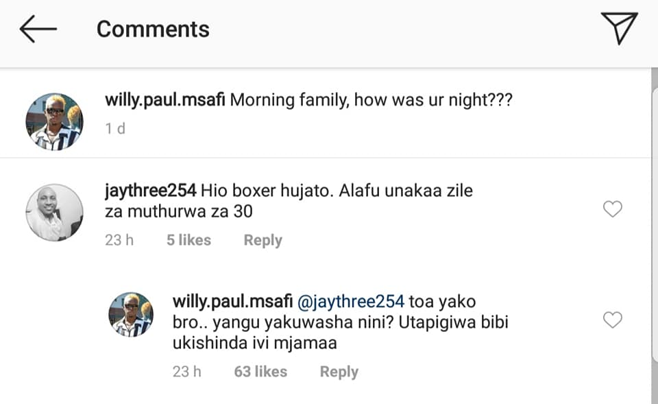 53354637 2370634802970302 9001764635052867584 n - 'Utapigiwa bibi!' Willy Paul attacks fan who said he rewinds boxers