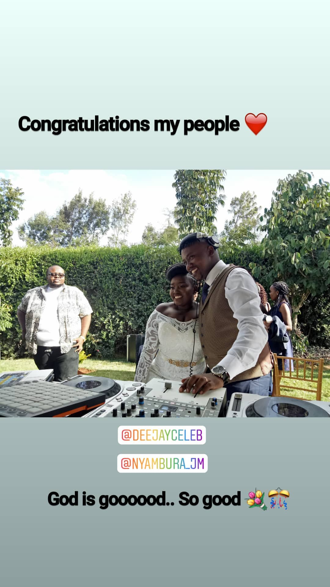 54204088 124032558728730 6709016814789823430 n - Finally! K24's Deejay Celeb walks down the aisle (Photos)
