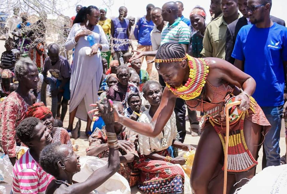 54519167 2322851974449076 6779335826372296704 n - Abarikiwe! Akothee praised after donating food to hunger stricken Kenyans in Turkana