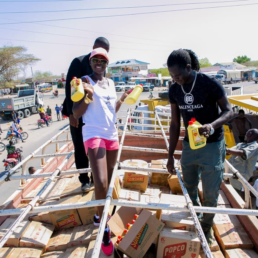 54521776 2322512827816324 8038520461174243328 n - Abarikiwe! Akothee praised after donating food to hunger stricken Kenyans in Turkana