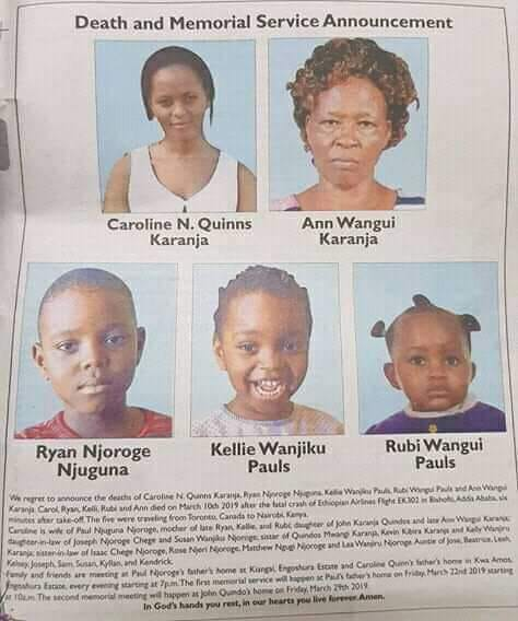 Nakuru family that died in ET crash