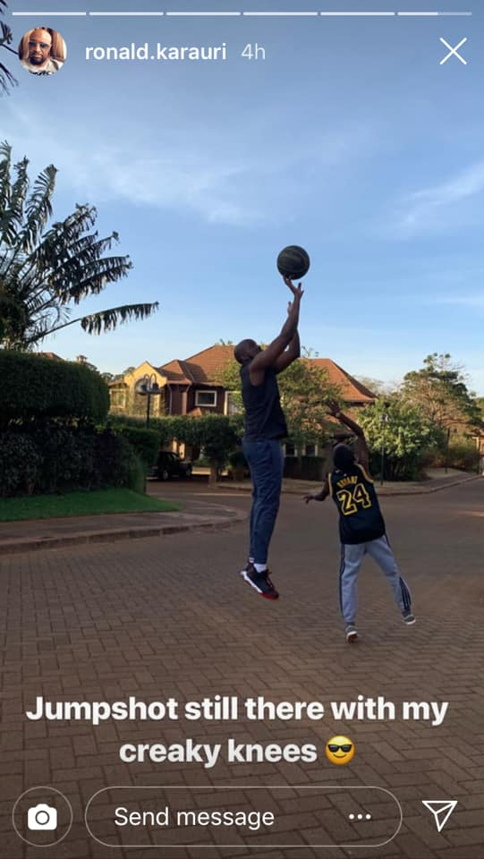 54523643 2328245547232863 6839078469272338432 n - Daddy duties – Sportpesa CEO Ronald Karauri enjoys basketball with son