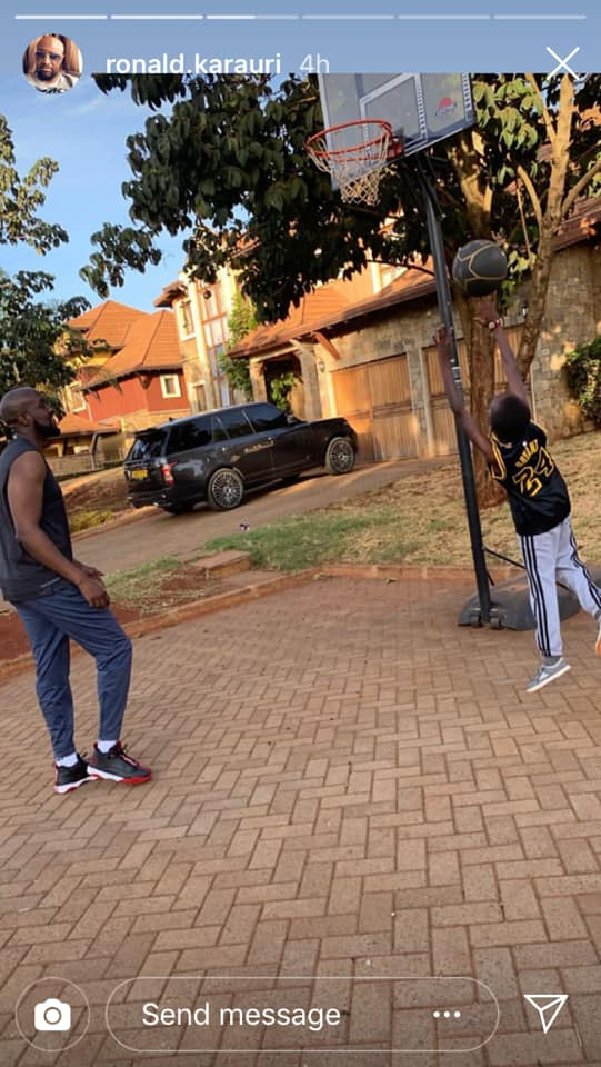 54524169 2328245570566194 8324542545530978304 n - Daddy duties – Sportpesa CEO Ronald Karauri enjoys basketball with son