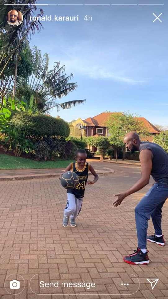 54770928 2328245603899524 2282502529134624768 n - Daddy duties – Sportpesa CEO Ronald Karauri enjoys basketball with son