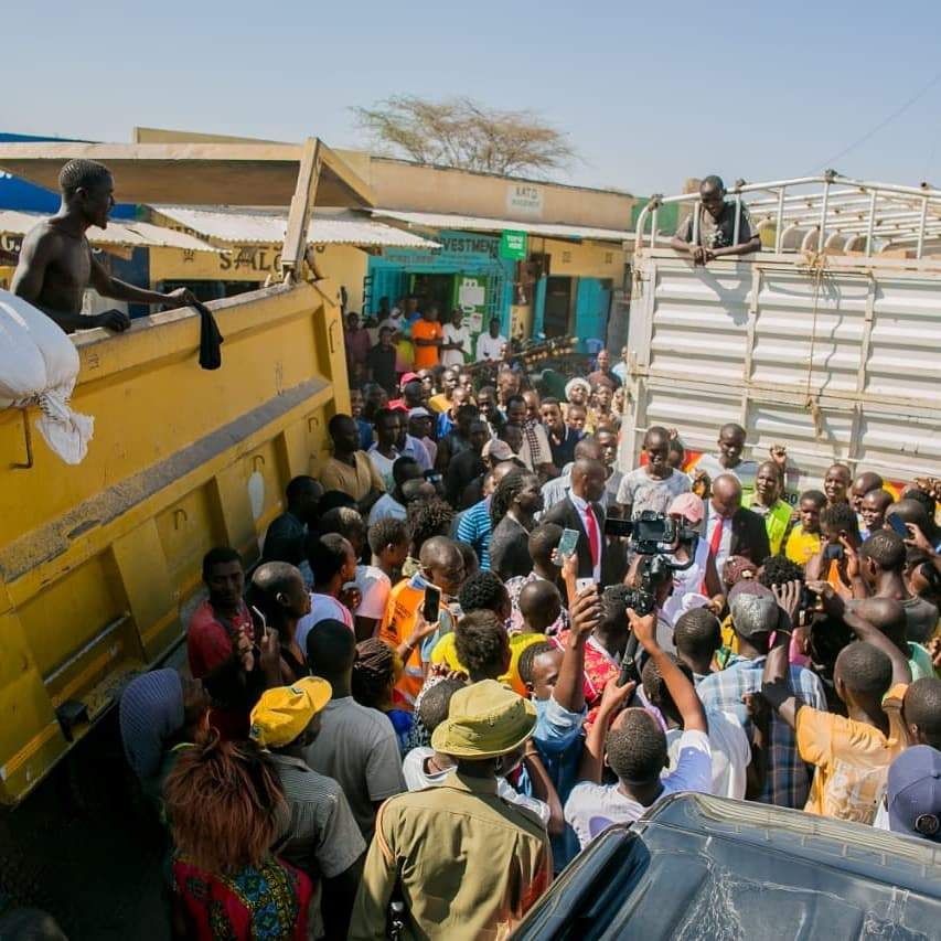 55869293 2322513007816306 8491438768425795584 n - Abarikiwe! Akothee praised after donating food to hunger stricken Kenyans in Turkana