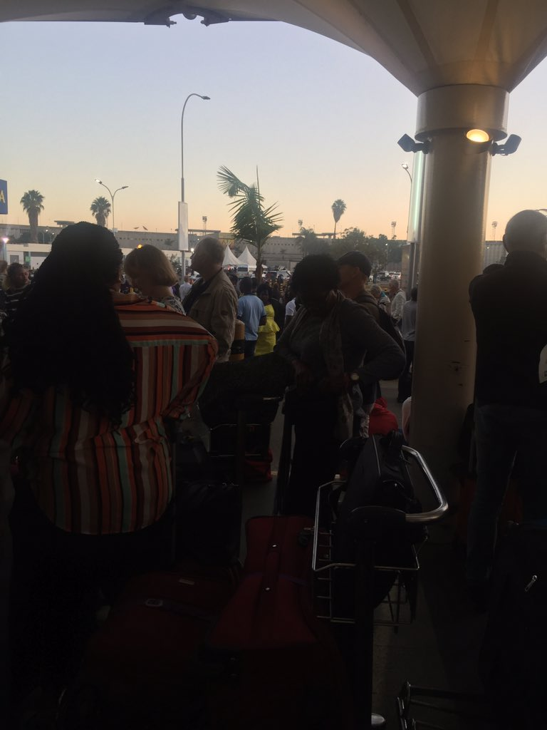 D08jeHqX4AIUmQH - Travellers stranded at JKIA as airport workers strike bites (photos)