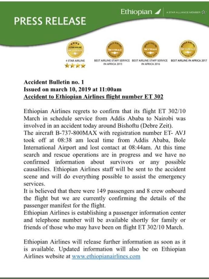 D1SQa8wWoAE0LGj - Oh no! Ethiopian airline ET 302 crashes with 157 people on board
