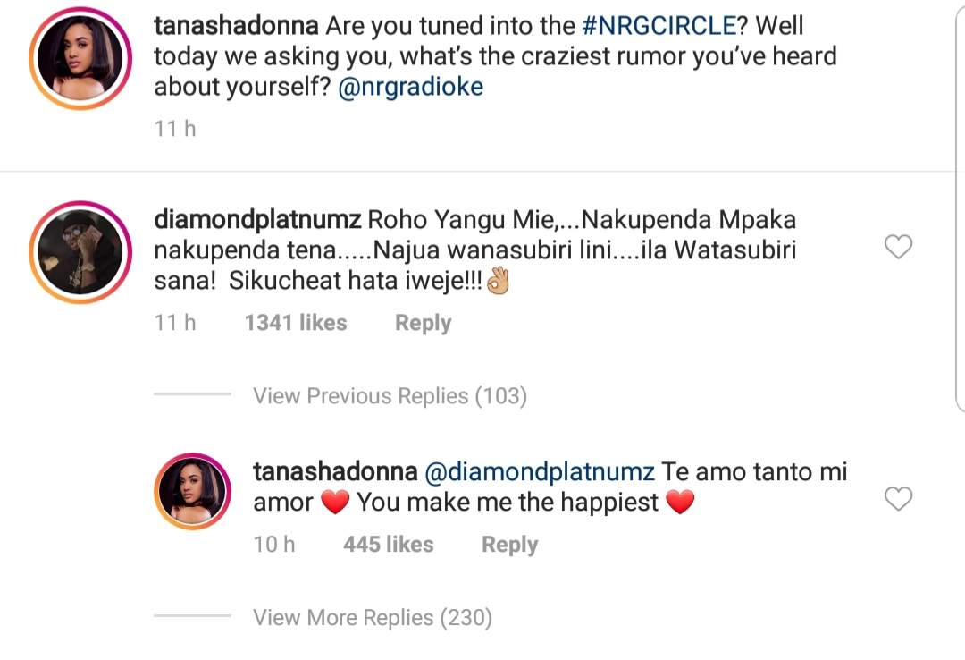 Diamond platnumz love - 'I will never cheat on you!' Diamond promises Tanasha Donna