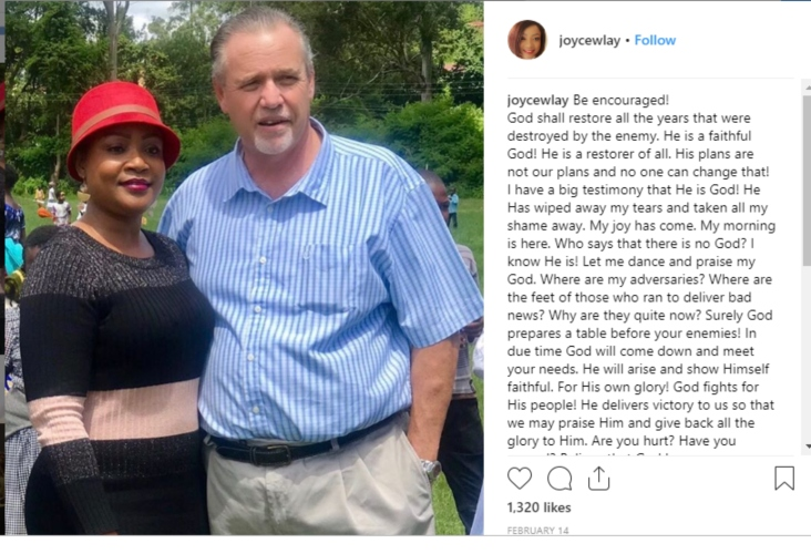 Screenshot 1 - 'He has taken all my shame away,' Read Joyce Lay's emotional message after reuniting with estranged husband