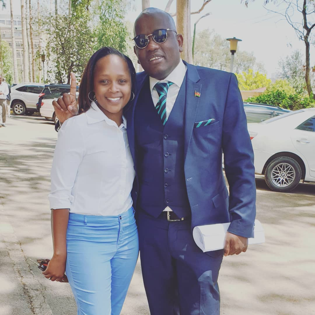 dennis tiumbi 2 - 'One man, one woman' Shix Kapienga and Dennis Itumbi leave fans ranting