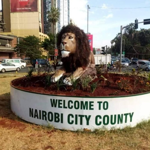 lion - Hit or miss? Kenyans make fun of Sonko lion statue in city centre