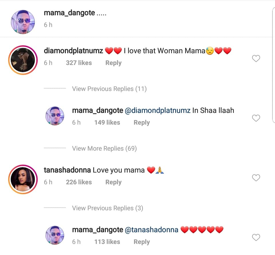 mama d - 'Love you mama,' Tanasha Donna to Diamond's mother after she accepted her