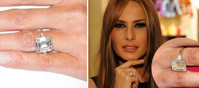melania trump - From Beyonce to JLo: celebrities with the most expensive wedding rings