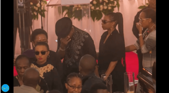 ommy 696x385 - Tanzanian celebrities faint, break down during media mogul's burial