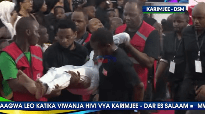 ruge 7 694x385 - Tanzanian celebrities faint, break down during media mogul's burial