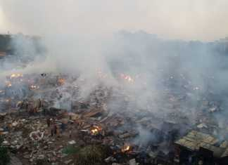 Toi market up in flames