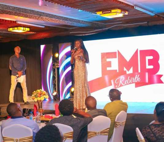 Akothee speaking about sleeping with Jaguar at Bahati's EMB Rebirth event. photo credit: Jaguar