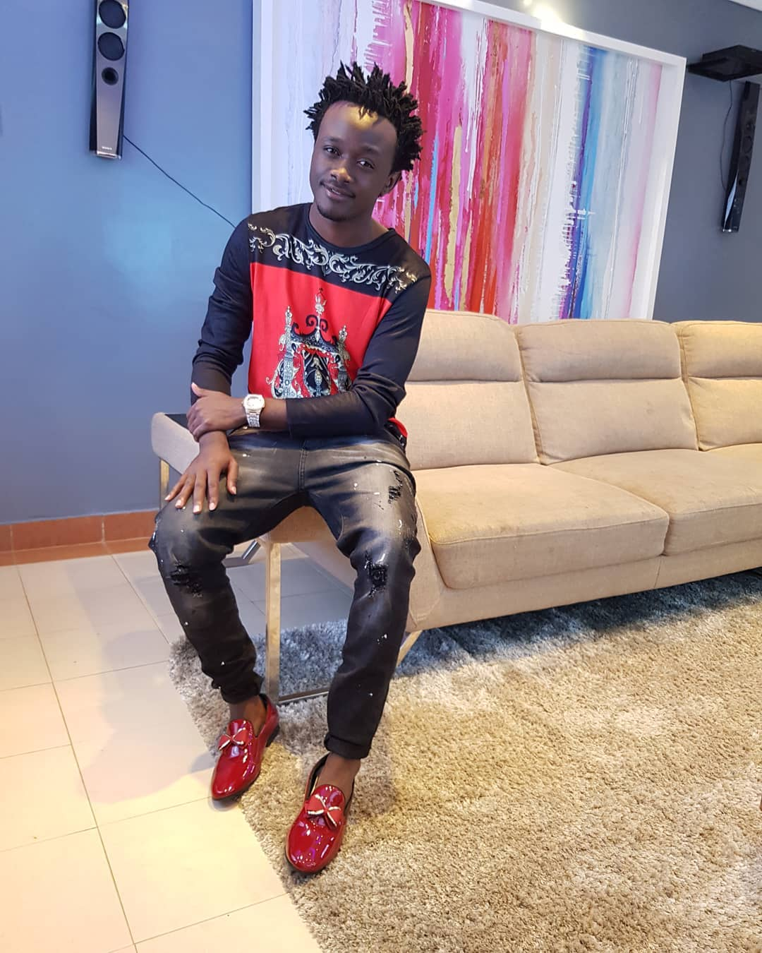 Bahati has been unhappy with his wife Diana Marua - 'Man must not look like a woman!' Ringtone tells dread-locked Bahati