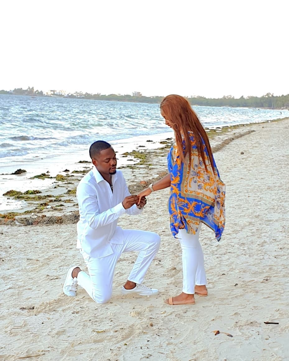 Ben Pol proposing to Anerlisa - Anerlisa Muigai hints at having twins with Ben Pol