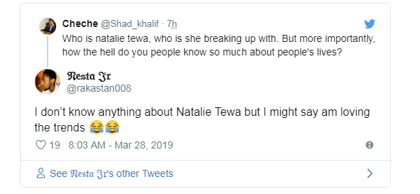 Capture 1 - Netizens react after Natalie Tewa and Rnaze reconcile
