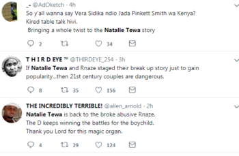 Capture 3 350x229 - Netizens react after Natalie Tewa and Rnaze reconcile