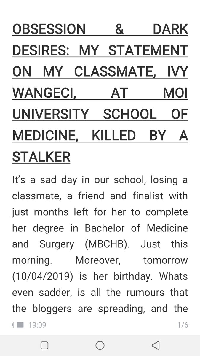 D3uYYLYW0AE5eib 1 - 'She wasn't in love with the monster who killed her!' Ivy Wangeci's classmate speaks