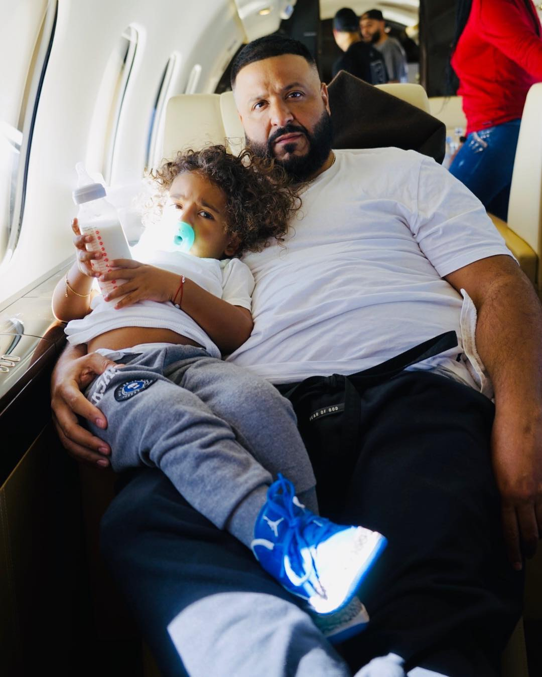 DJ Khaled with his son Assad - His princess: Mariga shares photo of daughter wearing expensive golden dress