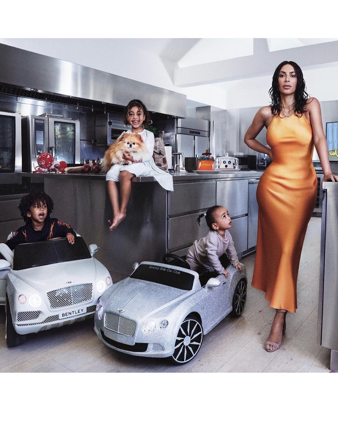 Kim Kardashian looks stunning as she models for Vogue with her kids. photo credit Instagram.jpg1  - Kim Kardashian looks stunning as she models for Vogue with her kids