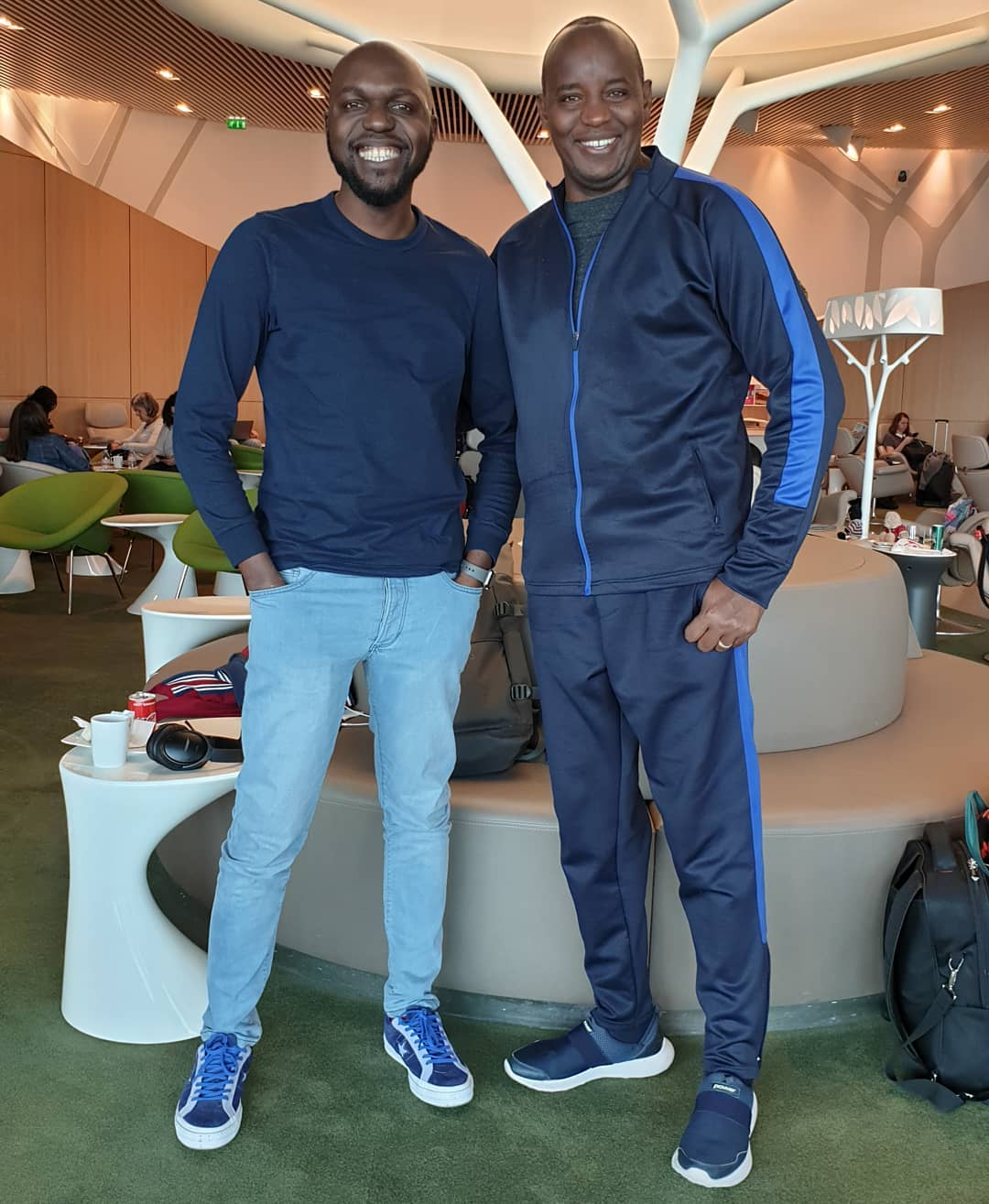 Larry Madowo with former boss Linus Kaikai. photo credit Instagram - Larry Madowo will be paid Shs. 6 million for 9 months! Journalist back in school