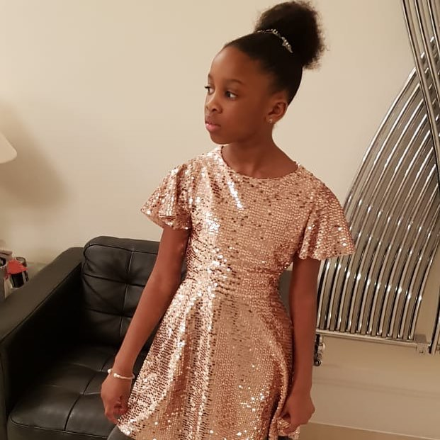 Mariga shared a photo of his cute daughter Kenisha - His princess: Mariga shares photo of daughter wearing expensive golden dress