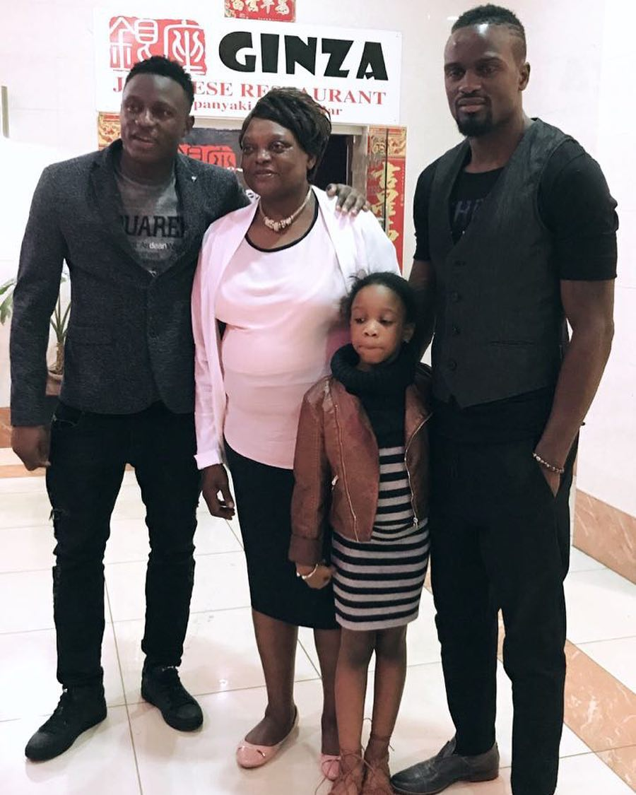 Mariga with his family - His princess: Mariga shares photo of daughter wearing expensive golden dress