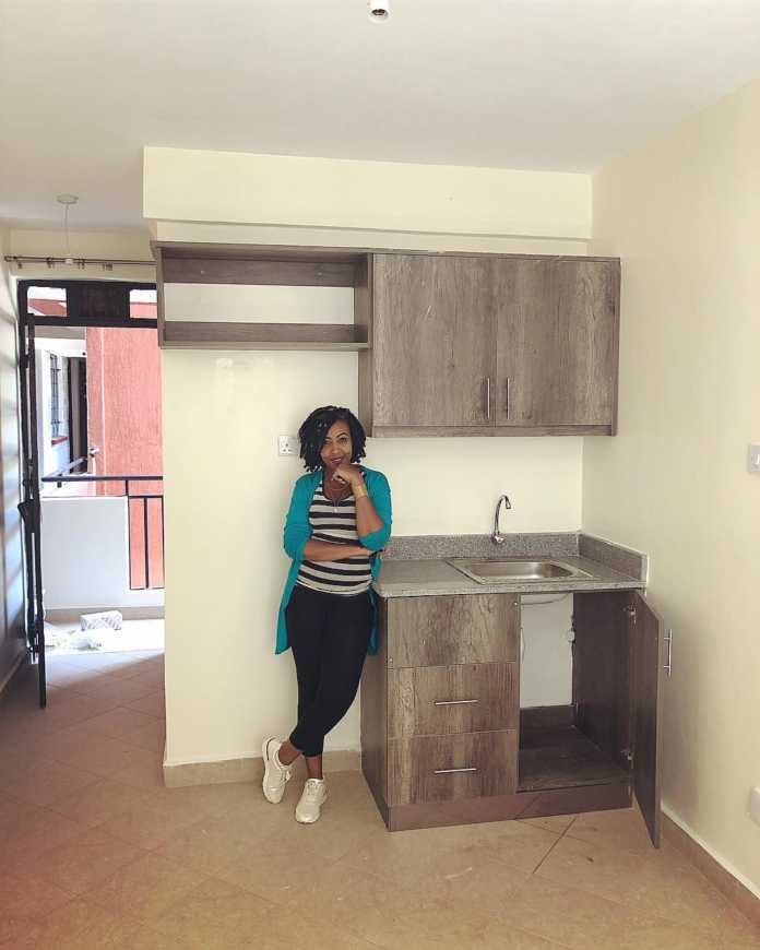 Mwalimu Rachel shows of her new home 696x870 - Mwalimu Rachel ni landlord! Fans thrilled as she shows off her house(photos)