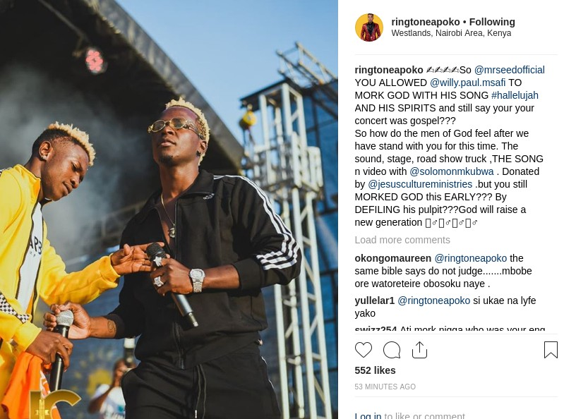 Ringtone criticising Mr. Seed and Willy Paul - 'Unawivu sana!' Ringtone told after attacking Willy Paul and Mr. Seed