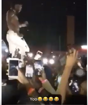 Screenshot from 2019 04 01 081838 - Thie Ukiumaga! Burna Boy kicks fan who tried to steal his expensive ring in Zambia (Video)