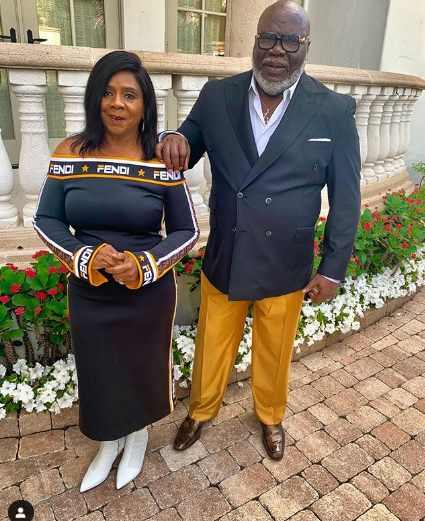 TDJAKES AND HIS WIFE - Sadaka ni tamu! TD Jakes' wife wears Fendi dress worth Sh190,000